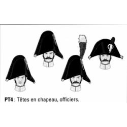 Têtes en chapeau, officiers