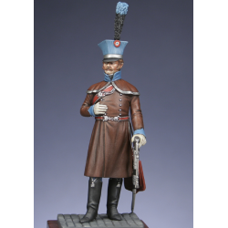 Officier du 2ème hussards en redingote